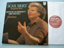 SCHUBERT Symphony No. 9 Colin Davis vinyl LP
