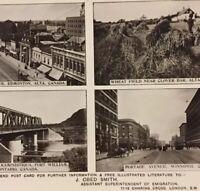 Postcard, Edmonton, Wheat field, Bridge, Winnipeg Alberta Canada Vintage P30