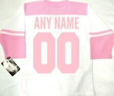 NWT ANY NAME & NUMBER TORONTO MAPLE LEAFS PINK MEDIUM 5/6 GIRLS HOCKEY JERSEY