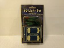 Battery Operated Multi Colored 10 Light Set Steady Burning Trees Garland ch522