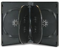 "1 Brand New Economy Black Multi Six 6 Discs Dvd/Cd/Pc Media Case, 7/8"" 22mm"