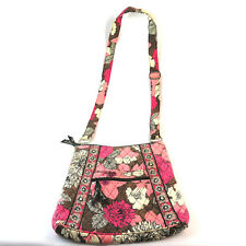 Vera Bradley Quilted Cross Over Purse - Pink Floral Messenger Handbag