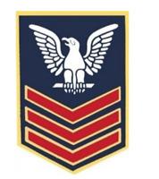 "Navy Petty Officer First Class (PO1/E-6) Sleeve Rank Insignia Pin 14398 (1 1/8"")"