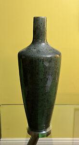 "Green Granite Vase Stone Marble 16"" Tall (15.5"" Deep)."