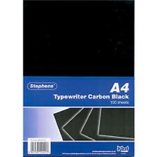 Stephens RS520153 40g Typewriter Carbon Paper - Black