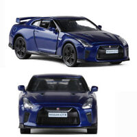 Nissan GTR R35 1:36 Model Car Diecast Gift Toy Vehicle Blue Pull Back Kids