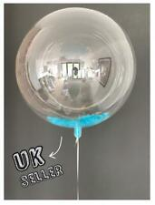 """36"""" Giant Clear Bubble baby blue Feather balloon wedding baby shower birthday"""