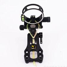 "Adjustable Compound Bow Sight 5Pin 0.019"" Fiber Optic Bowsight Light Micro Black"