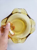 Vintage Amber Glass Ashtray for Cigars or Cigarettes | smoker gift | smoking...