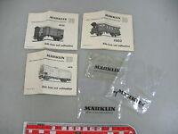 AE785-0,5# Märklin/Marklin H0 Anweisungen Bausätze 4918+4950+4802+ 2 Puffer