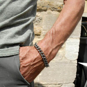 Men's Titanium Heavy Curb Bracelet