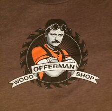 Chive Tees Offerman Wood Shop T-Shirt adult XL Nick Offerman parks and rec