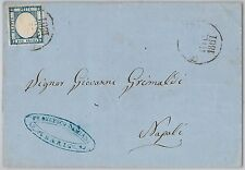 ANTICHI STATI -  NAPOLI : Sassone 20  su BUSTA da  BARI - 1861