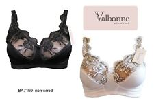 Firm Control Large Cup Non wired Bra By Valbonne 36-46 D,E,F,G,H Cups