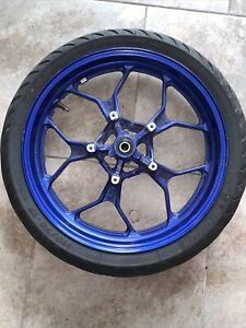2015 Yamaha Yzf R3 Front Wheel Rim W Tire Straight 15 16 17 18 Blue
