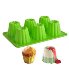 6 cavidad molde de hornear galletas de chocolate de postre de gelatina Cubo de Hielo Pastel de gelatina