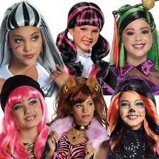 Girls Monster High Wig Official Halloween Fancy Dress Costume Accessory