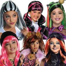 Peluca Chicas Monster High Oficial Halloween Elaborado Vestido Traje Accesorio