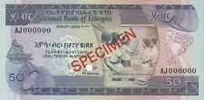 Ethiopia 50 Birr 1969 (1976) Specimen P# 33bs AUNC (27545)