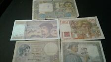 World Old Bank notes France Scarce currency 145 Francs 1939/1941/1942/1947/97!