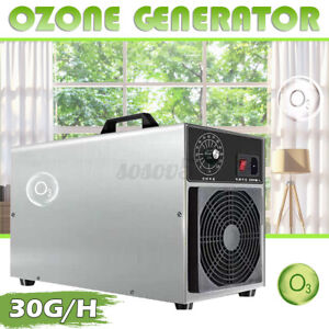 30g/h Ozone Generator Air Purifier Home Ozone Machine Timer Home Stainless Steel