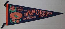 "1965 OREGON STATE BEAVERS  ROSE BOWL 29"" PENNANT SOFT FELT FULL SIZE"