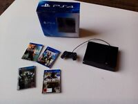 Dolls House Miniature 1/12th Scale PS4 replica Games Console and box set
