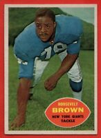 1960 Topps #78 Roosevelt Brown VG-VGEX CREASE New York Giants HOF FREE SHIPPING