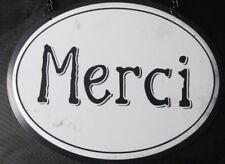 Metallschild Blechschild Merci, Danke, gracias  Clayre & Eef Vintage Retro