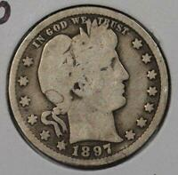 1897-O Barber Quarter Very Good Condition