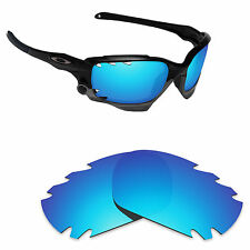 Hawkry Polarized Replacement Lenses for-Oakley Jawbone Vented Ice Blue Mirror