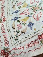 Bucilla Holiday Treasures Christmas  Stamped Embroidery Lap Quilt Kit 86312