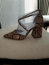Dorothy perkins sandals shoes heels size 5 animal print new rrp £30