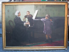 Young LENIN listens music Oil Painting Canvas Soviet Russian USSR 140x100cm