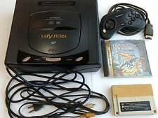 HITACHI Hi Saturn MMP-1 Console,Pad,AV cable,Power cable,Games set/tested -C-