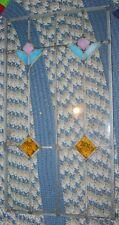 Vintage Leaded Beveled Glass Framed Panel~24.5 x 13.5