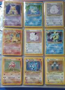 COMPLETE BASE SET 102/102 POKEMON CARDS RARE WOTC WITH 1ST EDITION