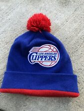 Mitchell And Ness Los Angeles Clippers NBA Knit Beanie Red Blue Thick Warm