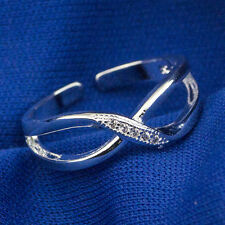 925 Sterling Silver plating Solid fashion jewelry Ring Wholesale SIZE OPEN J18