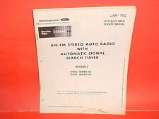 1976 LINCOLN MARK IV TOWN CAR PHILCO SEARCH TUNER AM-FM RADIO SERVICE MANUAL 76