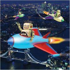 3D Tarjeta de Cumpleaños Robots Volador Holográfica plaza de tarjetas de felicitación
