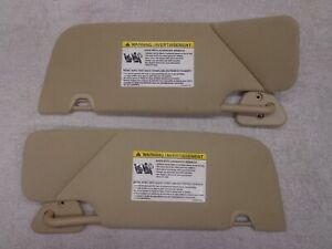 05-11 Ford Mustang Tan Sun Visors Driver / Passenger OEM 06 07 08 09 10 GT