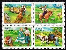 Brazil - 1992 Stamp expo Arbrafex / Gaucho life - Mi. 2458-61y MNH