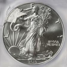 2019 ICG MS70 Huge Struck Thru Retained Plastic Silver Eagle Dollar Mint Error