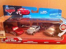Disney cars métalliques -3 voiture gift pack Cruisin McQueen, Matti & Bert yeux changeants