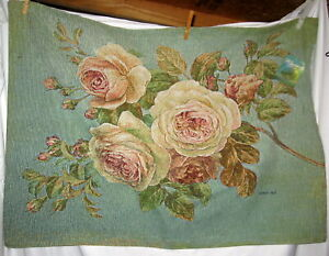 Flowers - Vintage Roses Tapestry Wall Hanging - Wall Art - NWT