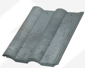 Double Roman Grey Slate  - Plastic, PVC, Composite Roofing Tiles  3 colour