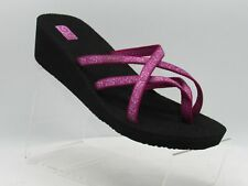 Teva Mandalyn Ola 2 1000099B Size 12 M Red Wedge Slide Sandals Shoes For Women