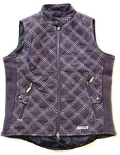 EOUS EQUESTRIAN PURPLE QUILTED VEST STRETCH SIDE PANELS, XS