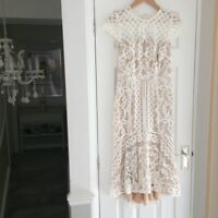 Coast White Lace Occasion Wear Dress Size 8